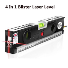 4 em 1 bolha laser níveis horizonte vertical fita de medição alinhador laser marcação linhas régua ferramenta tripé para escolher