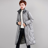 Women White duck down Long section Down Coats Winter new Casual Thick Down jacket Women fashion Large size Warm Outwear