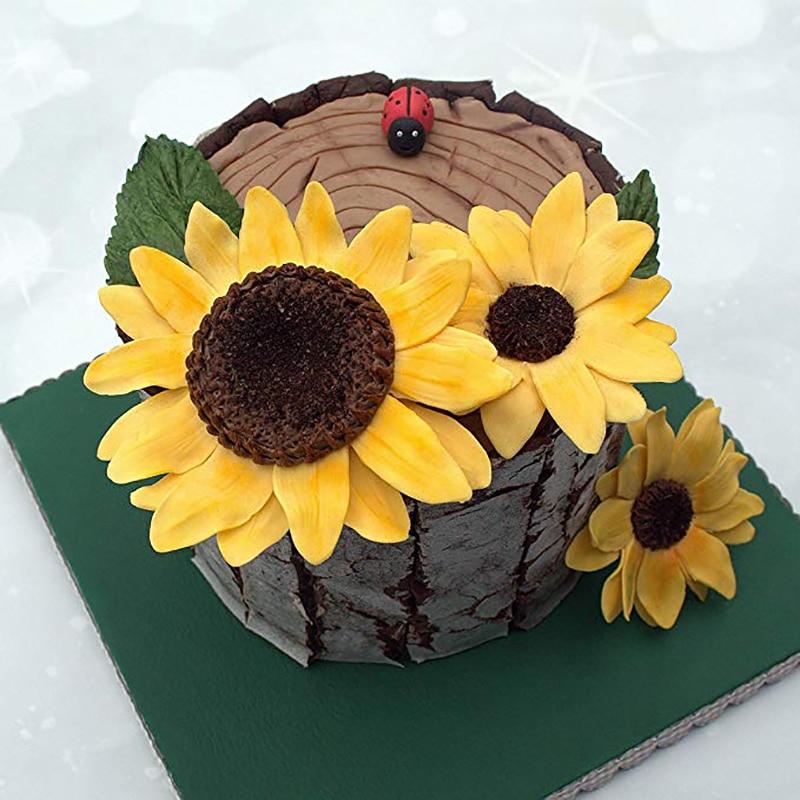 Sunflower Silicone Fondant Mold Chocolate Cake Sugarcraft Decorating Mould HY