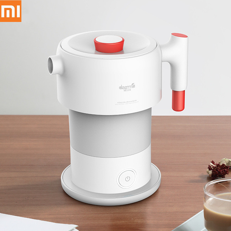 Xiaomi Mijia Deerma 0.6L Portable Folding Water Kettle Handheld Electric Water Flask Pot Auto Power off Protection Wired Kettle