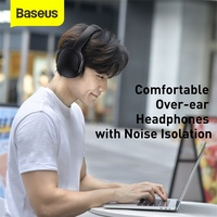 Baseus D02 Pro Wireless Bluetooth Headphones HIFI Stereo Earphones Foldable Sport Headset with Audio Cable foriPhone tablet