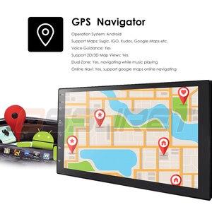 Image 5 - Android 10 2 Din 7นิ้วHD Touch Screenวิทยุรถยนต์เครื่องเล่นวิดีโอมัลติมีเดีย4 Core Universal AutoสเตอริโอGPSแผนที่กระจก2 + 32