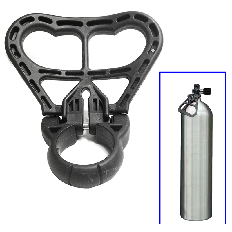 Scuba Diving Cylinder Tank Handle Dive Holder Grip Diving Folding Tank Carry Handle For 39Mm To 41Mm Circumference Neck Tanks