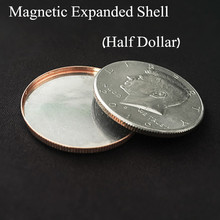 Магнитная открывающаяся коробочка(полдоллара) монета Волшебные трюки иллюзии волшебные аксессуары иллюзии трюмик волшебник trucos de magia