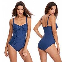 One-Piece Swimsuit Women Solid Push Up Bathing Suits 2020 Girl Beach Monokini Swimwear Sexy Summer Beachwear biquini mujer 2XL