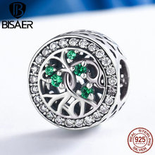 Hot Sale 925 Sterling Silver Dazzling Tree of Life Green CZ Stone Beads fit Original Pandora Charm Bracelet Fashion Jewelry Gift tree of life 925 sterling silver tree of life family tree charms beads fit bisaer charm bracelet diy beads 925 silver jewelry