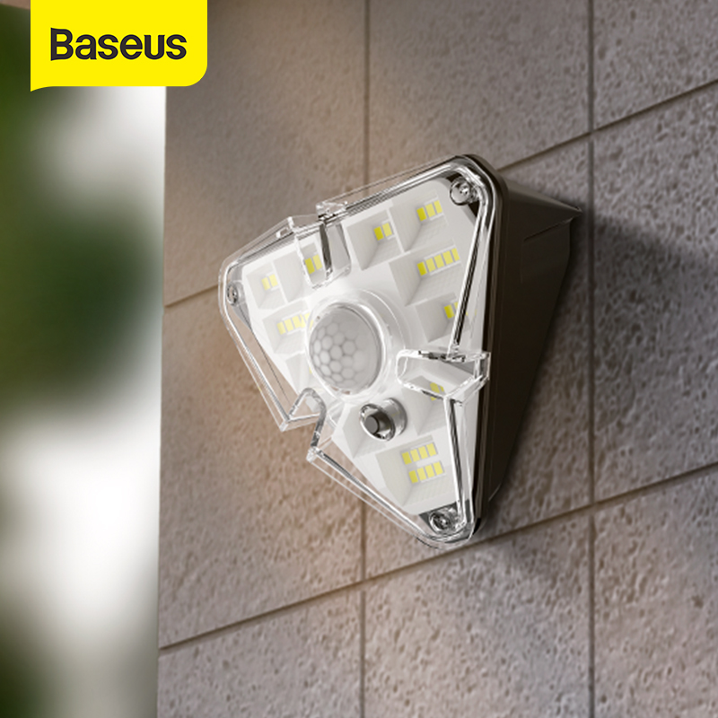 Baseus LED Solar Light Outdoor Solar Lamp Powered Sunlight PIR Motion Sensor Waterproof Wall Street Light for Garden Courtyard