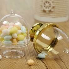 Transparent Plastic Candy Box Mini Cake Stand Snack Cupcake Box Wedding Favor Party Baby Shower Birthday Decoration Gift(China)
