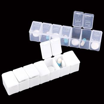 Pojemnik na tabletki w podróży uchwyt skrzynki tygodniowy pojemnik do przechowywania medycyny pojemnik na leki dozownik na tabletki niezależne kraty plastikowe opakowanie na leki tanie i dobre opinie YOVIP high quality plastic 1 * Pill Box