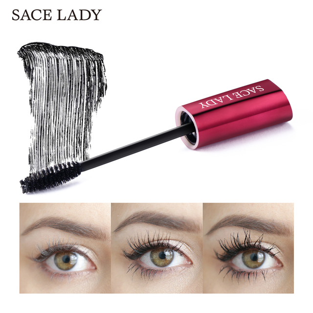 SACE LADY 4D Lash Mascara Waterproof Makeup Rimel Mascara Eyelash Extension Black Thick Lengthen Eye Lashes Cosmetics Wholesale 2