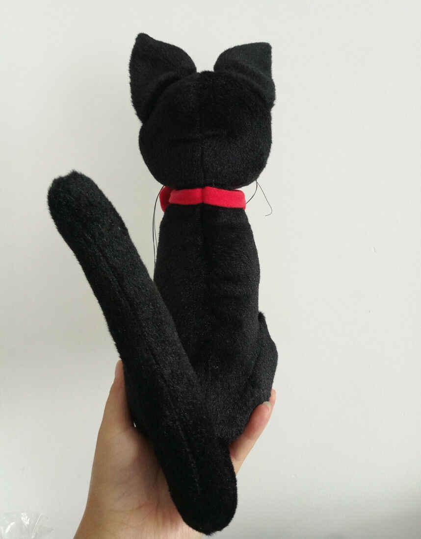 Usługa dostawy Kiki pluszowa lalka czarny kot JiJi PP bawełna pluszowe wypełnione zwierzęta Peluche Brinquedos pluszowa zabawka 30CM