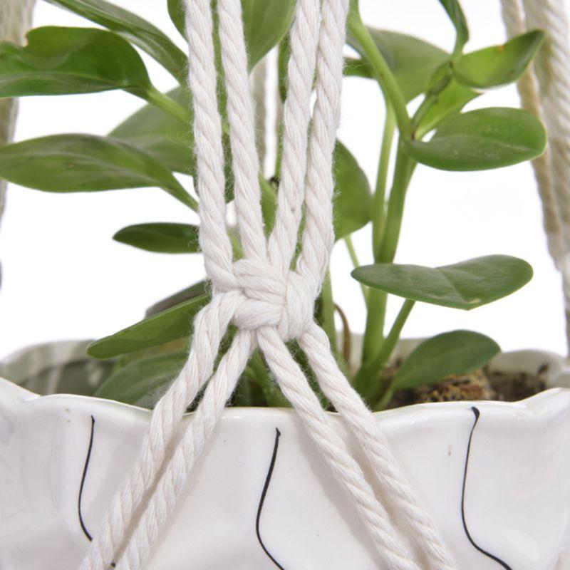 3pcs/set Handmade Macrame Plant Hanger Indoor Outdoor Rope Hanging Basket Net 6XDD|Hanging Baskets| |  - title=