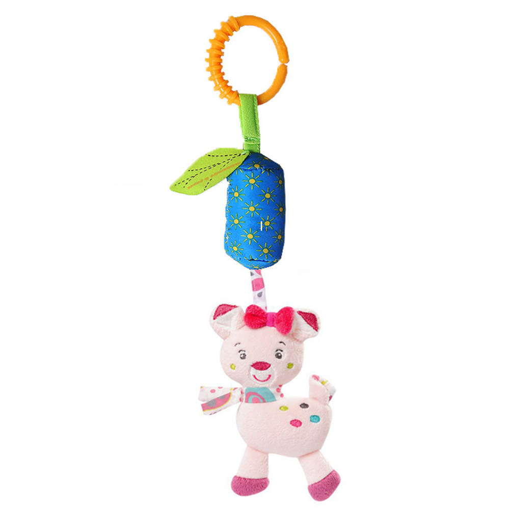 Baby Rattle Toys Stroller Baby Carriage Pendant Toys Kids Play Travel Newborn Infant Children Toys  Rattles Gifts