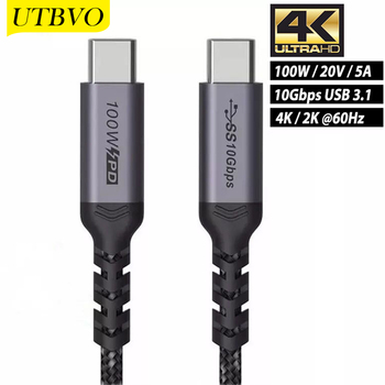 Фото - UTBVO 100W USB C to USB C Cable 10Gbps, USB-C 3.1 Gen 2 Cable with PD Fast Charge and 4K Video Output, Braided Type-C Cable c c pecknold christianity and politics