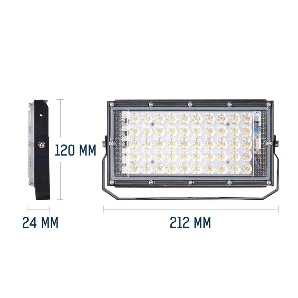 cheapest 30W LED Road Street Flood Light 220V Outdoor Waterproof Solar Industrial Lamp Garden Yard Park Sport Court Road Lighting Lamp