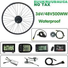 Schuck E Bike Conversie Kit 36V/48V500W Achter Hub Motor Wiel Waterdichte Connector 16202628 700C