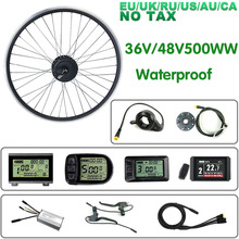 Schuck E bike Conversion Kit 36V/48V500W Rear Hub Motor Wheel Waterproof Connector 16202628 700C