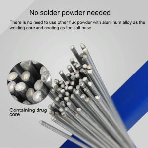 50cm Low Temperature Easy Melt Aluminum Welding Rods Cored Wire 1.6/2mm Rod Solder for Soldering Aluminum No Need Solder Powder
