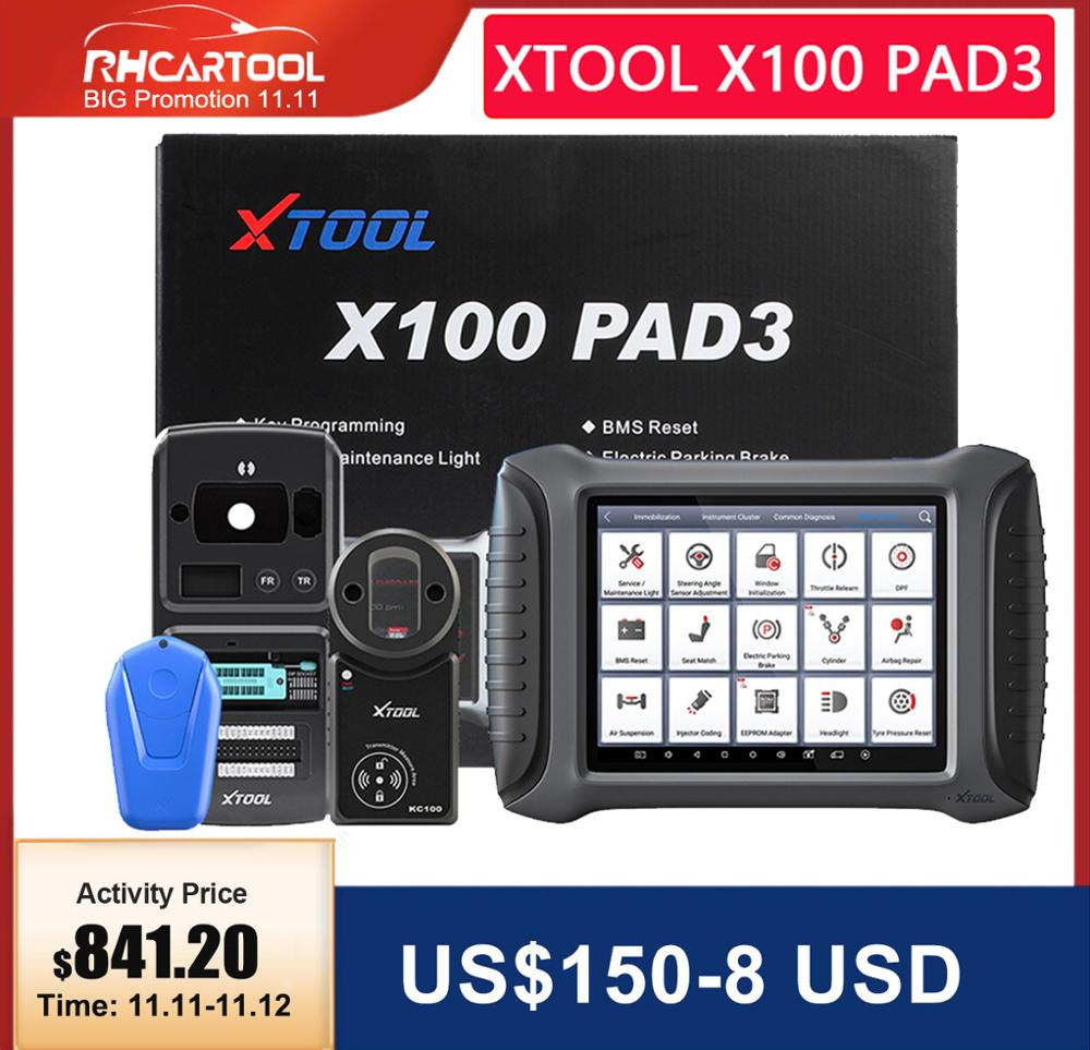 XTOOL X100 PAD3 With KC501 KS-1 OBD2 Key Programmer Reading ECU Read Write Car Scanner For Benz Infrared Key For Renault Audi