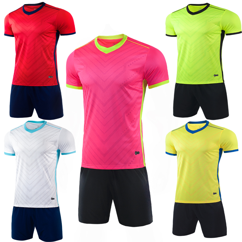 2018//19 Football Outfit Soccer Kit Short Sleeve Kid Boy Adult Jersey Sports Suit