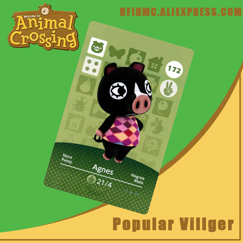 172 Agnes Animal Crossing Card Amiibo For New Horizons