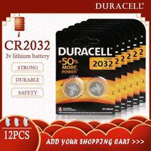12 sztuk oryginalny dla DURACELL CR2032 bateria telefonu guzik 3V baterie litowe do zegarka komputer kalkulator sterowania DL/CR 2032