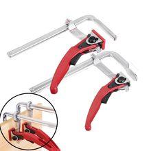 Mft braçadeira de aço resistente catraca f braçadeira barra ajustável liberação rápida para guia ferroviário sistema carpintaria diy ferramenta mão