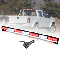 78cm Car Police led light emergency hazard strobe lights bar led car grille Flashing lamp safety stroboscope amber red blue