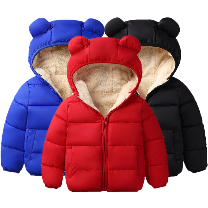 Winter Jacket Girls Coat Kids Children Outerwear Hooded Autumn for Warm
