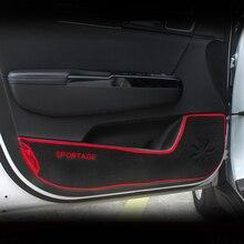 Резиновый уплотнитель двери автомобиля против-kick Pad Защитная крышка коврики детские kick коврик Стикеры для KIA Sportage 4 QL аксессуары