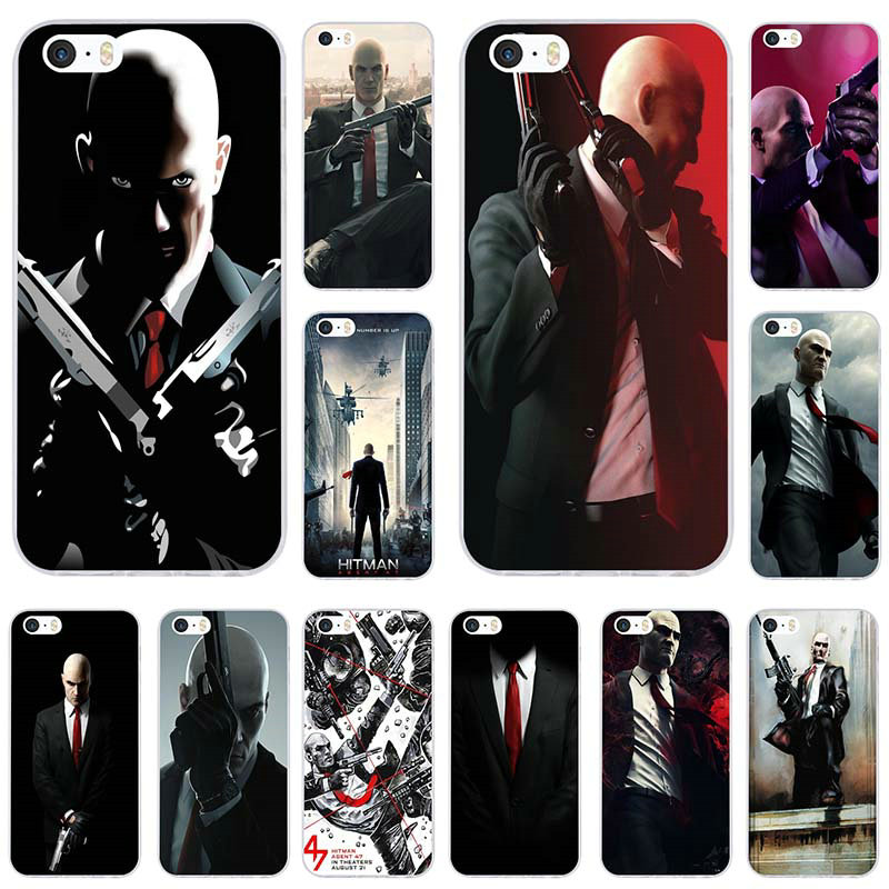 Hitman 2 Agent 47 Transparent Soft Tpu Phone Cases Cover For