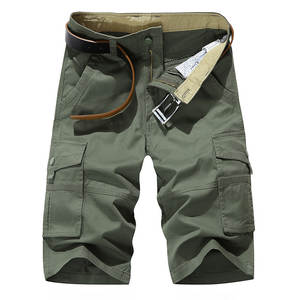 Shorts Men Summer Trousers Joggers Business Military Knee-Length Multi-Pockets Fashion