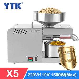 Image 1 - YTK Oil Press Full Automatic Household Flax Seed Press Peanut Oil Press Stainless Steel Cold Press Oil Press 1500W (Max)