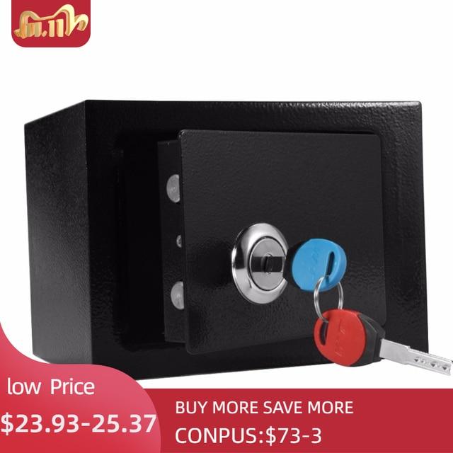 잠글 수있는 내구성 강한 높은 보안 철강 작은 안전 상자 키 운영 돈 현금 저장 홈 오피스