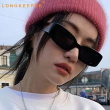 New Fashion Vintage Rectangle Sunglasses Women Brand Designe