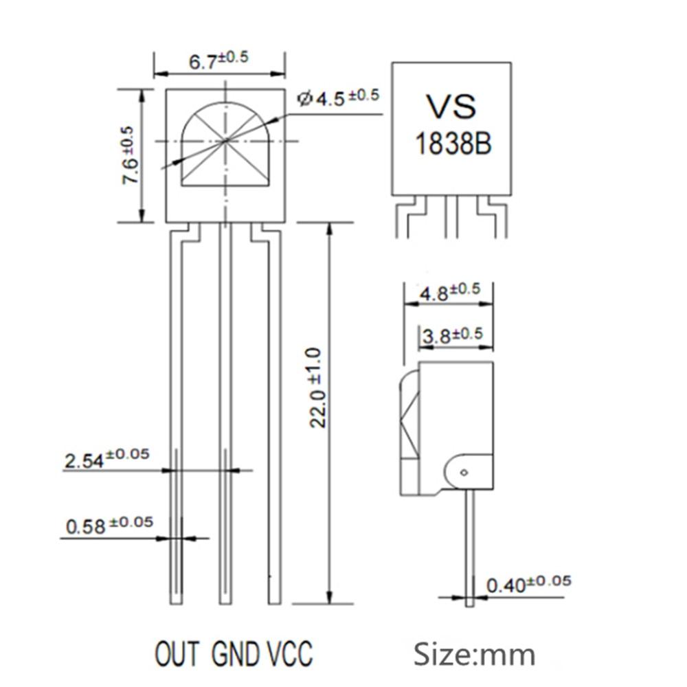 Smart Electronics10pcslot Universal IR Infrared Receiver TL1838 VS1838B  1838 38Khz VoIP Adapter  - AliExpress