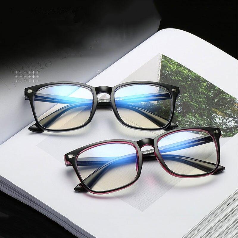Eyeglass-Frame Computer-Glasses Light-Game Square Uv-Protection Blocking Anti-Blue Eyewear