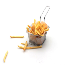 French Fries Basket Portable Stainless Steel Chips Mini Frying Strainer Fryer Kitchen Cooking Chef Colander Tool