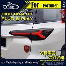 Автомобильный Стайлинг задний фонарь fro Toyota Fortuner светодиодный фонарь 2015 2019 Новый Fortuner задние дневные ходовые огни тормозные автомобильные аксессуары