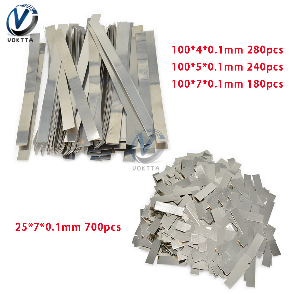 1 Pack 0.1mm Nickel Plated Steel Strip 18650 Li-ion Battery Nickel Sheet Plate Steel Belt Strip Connector Spot Welding Machine