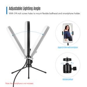 Image 5 - 8 pouces LED lumière annulaire lampe de remplissage intégré 72 pièces LED perles 10W Dimmable 2700 5500K température de couleur pour iPhone Samsung Huawei