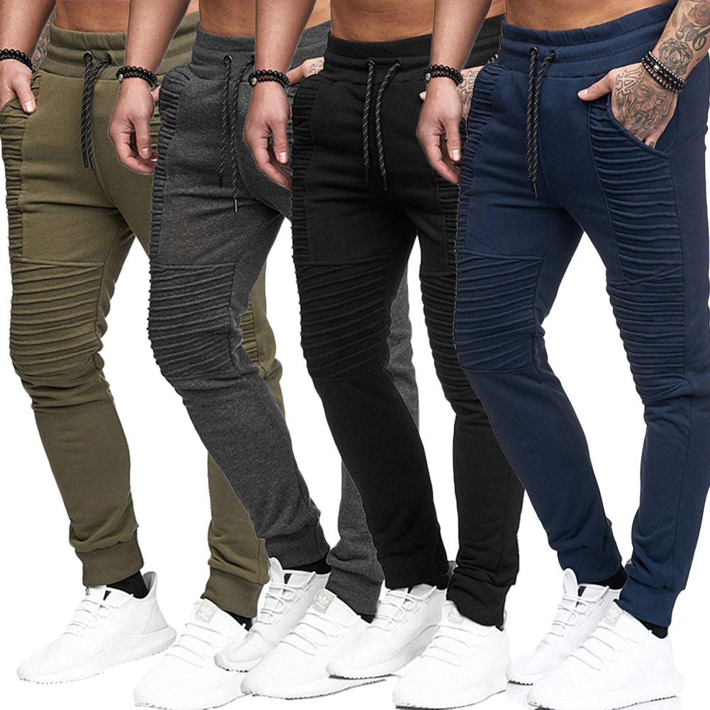 Men's High Quality Men Pants Fitness Casual Elastic Pants Bodybuilding Clothing Casual  Sweatpants Joggers Pants Cargo Pants