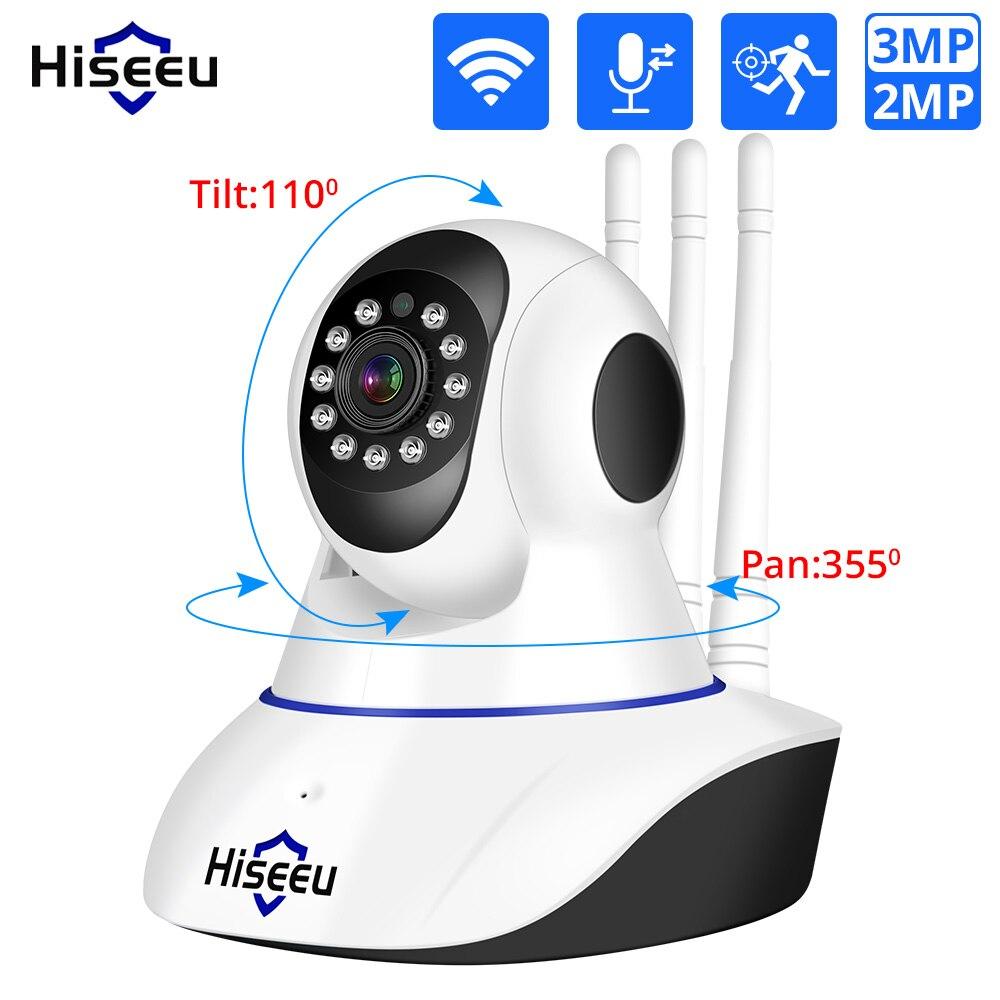 Hiseeu 1080p 1536p câmera ip wi-fi sem fio câmera de segurança em casa vigilância 2-way áudio cctv pet câmera 2mp monitor do bebê