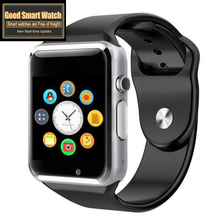 купить A1 Smart Watch Smartwatch Bluetooth Wrist Sport Watch SIM TF Phone Camera WristWatch For Apple iPhone Android Samsung Men Wach по цене 600.51 рублей