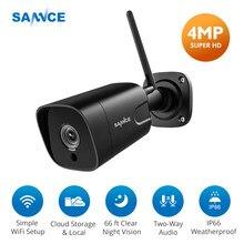 Sannce 4mp câmera ip super hd vídeo câmera de segurança sem fio em dois sentidos de áudio wifi cam detecção de movimento câmera de visão noturna