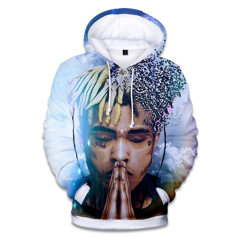 3D XXXTentacion Popular Men And Women Hooded Boys And Girls Blue Pullover Children Cool Autumn And Winter Sweatshirt
