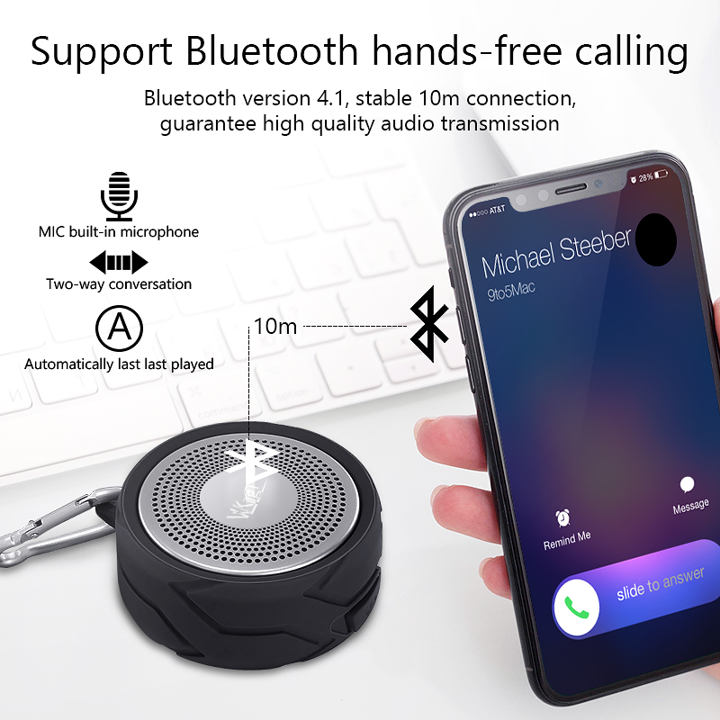 Image 3 - VVKing Wireless Bluetooth Speaker Outdoor Portable altavoz Stereo With Mic Loudspeaker IPX6 Waterproof High Quality Speaker Bass-in Portable Speakers from Consumer Electronics