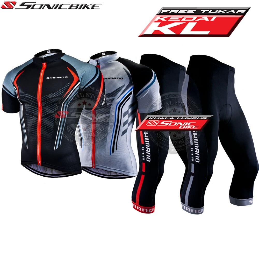 [9D ג 'ל Pad] Shimano רכיבה על אופניים ג' רזי בגדי 3/4 מכנסיים סט לנשימה קרח משי אנטי UV חיצוני ג 'רזי
