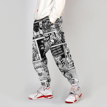 Jojo Bizarre Adventure Jogger Men Streetwear Spring Autumn Sweatpants Anime Casual Trackpants Men Harajuku Pants Fashion Loose 1