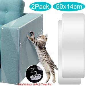 2pcs/set Cat Scratching Tape Deterrent Anti Scratch Durable Sticker Clear Carpet Sofa Protection Furniture Pet Training Seats
